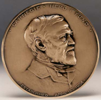 Carnegie Medal similar to that which was awarded to twenty-six year old John Cameron