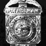 Patrolman Casterline's badge in the above photo, but possibly not the one he was assigned when he died.