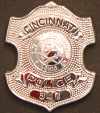 Police Officer Kevin Curtis Crayon's badge