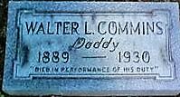 Patrolman Walter L. Commins' grave site