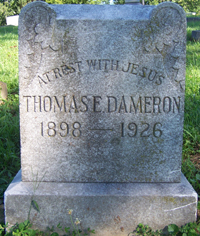 Patrolman Thomas E. Dameron's grave3 site
