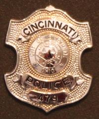 Police Officer Gary Weber's badge