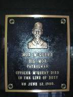 Patrolman McQuery's Monument in Covington